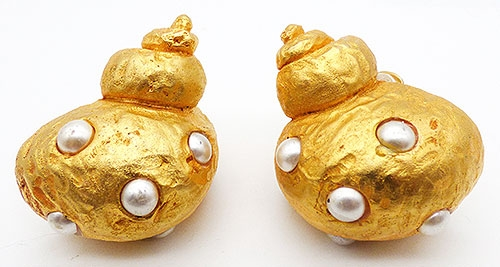 Newly Added Dominique Aurientis Shell Earrings
