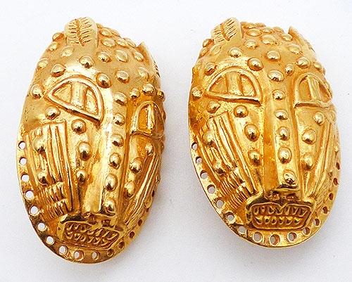 Connoisseur Collection - Dominique Aurientis Tribal Mask Earrings