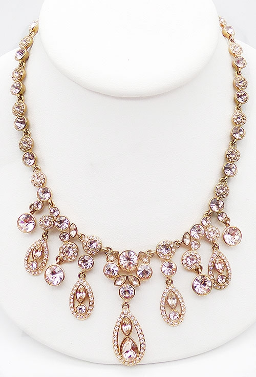 Newly Added Givenchy Pink Crystal Statement Necklace