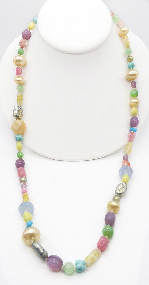 Haskell, Miriam - Miriam Haskell Pastel Glass Bead Necklace