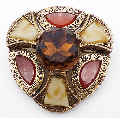 Brooches - Miracle Scottish Agate Glass Brooch
