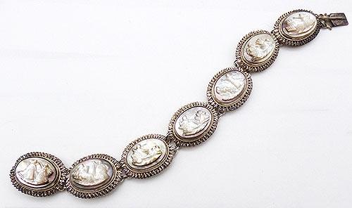 Bracelets - Guiseppi Mandrile Sterling Mother-of-Pearl Cameo Bracelet