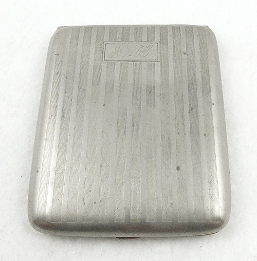 Compacts & Vanity Items - W&H Co Nickel Silver Cigarette Case