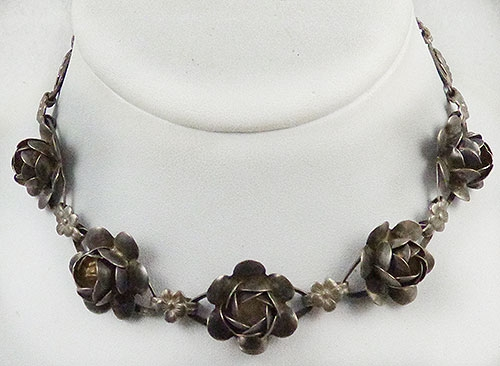 Florals - Coro Sterling Roses Necklace