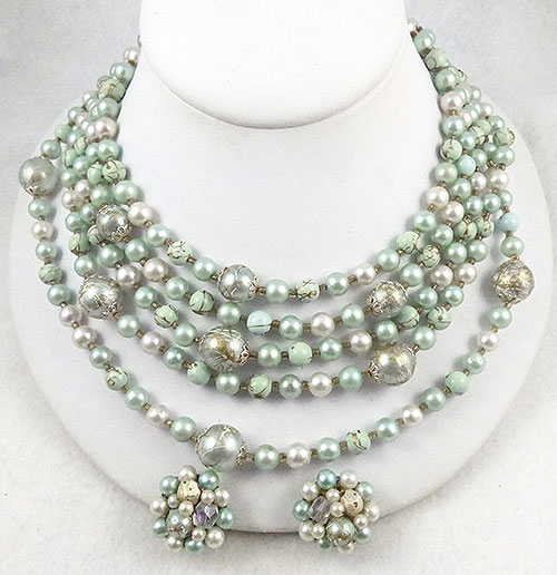 Japan - Japan Mint Green Bead Necklace Set
