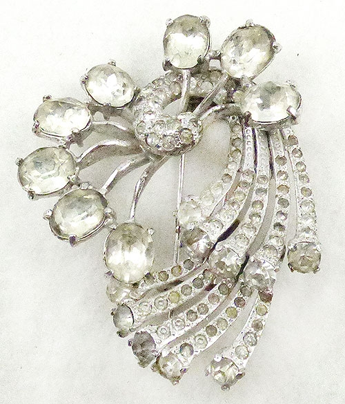 Newly Added Eisenberg Original Sterling Rhinestone Fur Clip
