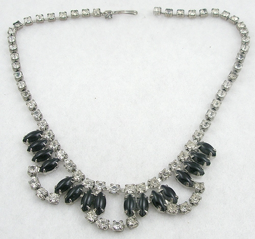 End of Year Sale! 30-50% OFF - Black Navette  Rhinestone Necklace