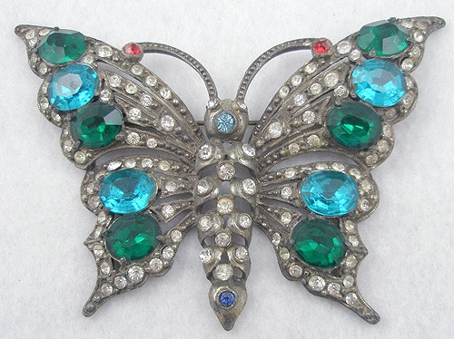 Brooches - Staret Rhinestone Butterfly Brooch