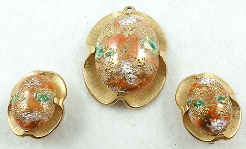 Misc. Signed G-L - Judy Lee Easter Egg Pendant Set