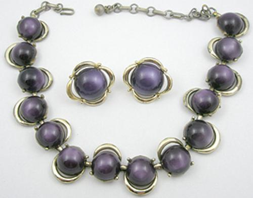 Sets & Parures - Coro Purple Moonglow Necklace Set