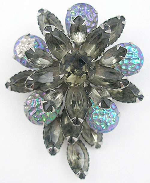 Newly Added Black Diamond 'Lava' Glass Brooch