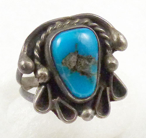 Semi-Precious Gems - Native American Turquoise Ring