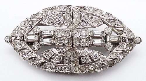 Brooches - Trifari Rhinestone Clpmate Separable Brooch