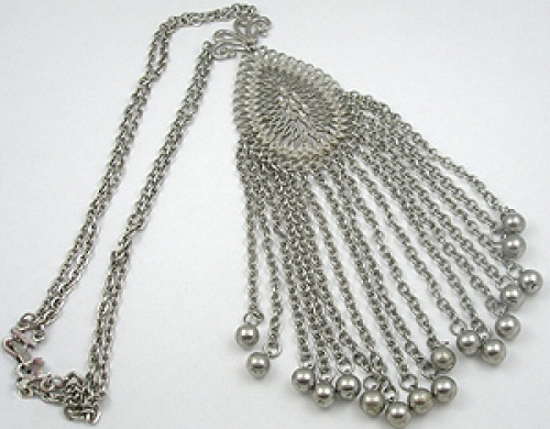 Newly Added 1960's Silver Chains Necklace