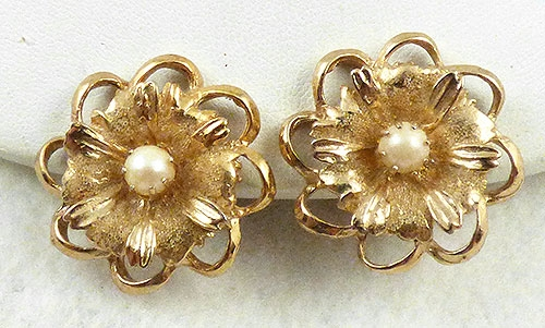 Earrings - Kramer Gold Flower Earrings