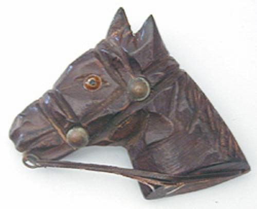 Newly Added Wooden Horse Brooch