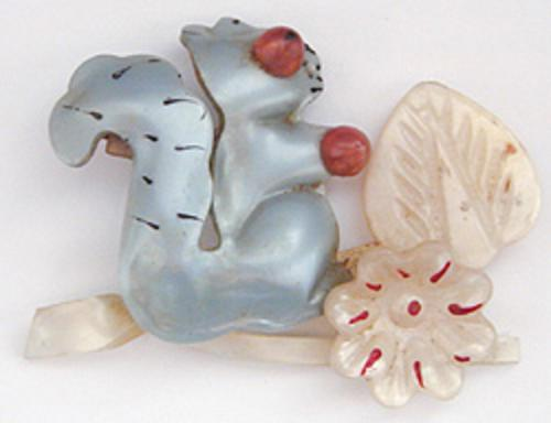 Newly Added Moonglow Squirrel Brooch