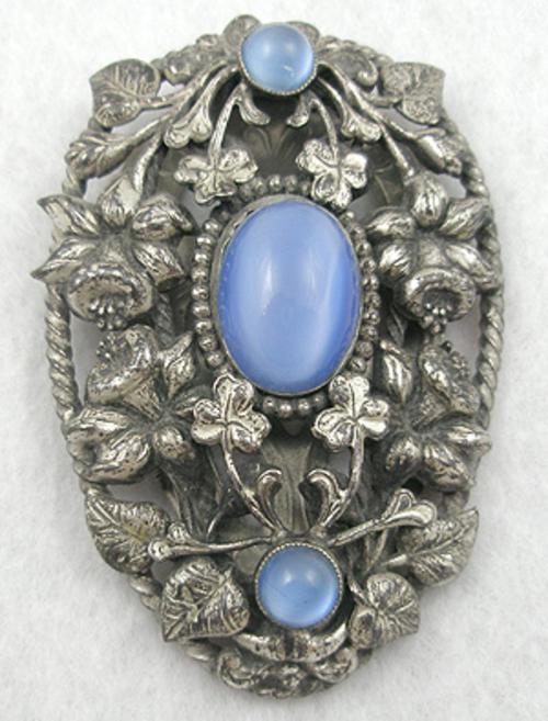 Dress & Fur Clips - Art Nouveau Dress Clip