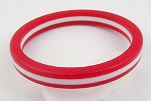 Newly Added Red & White Striped Lucite Bangle