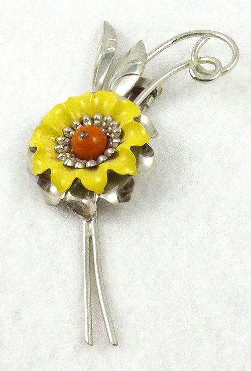 Florals - Monet Enameled Floral Fur Clip