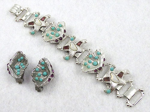 Sets & Parures - Starfish and Clam Shell Bracelet Set